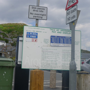 There is a large pay and display car park (not National Trust) on the sea front (follow signs)