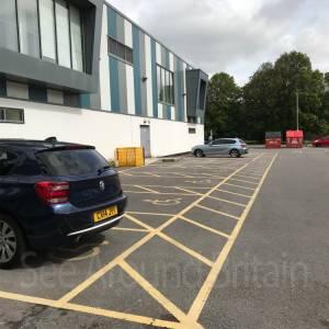 Nine disabled parking bays